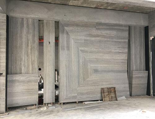員林 – 藍木紋造型牆
