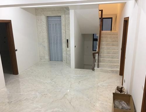 福科路 – 葡萄牙奧羅拉地坪、樓梯、電梯牆。 電梯車箱拼花